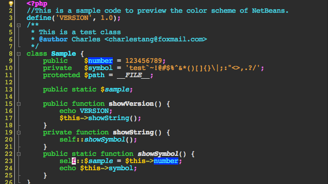 NetBeans Themes: Color Schemes of the NetBeans IDE